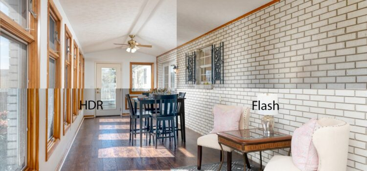 HDR vs Flash Real Estate Photography